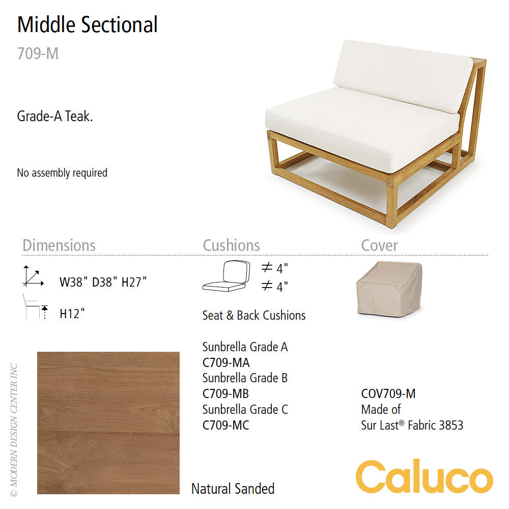 Cozy Middle Sectional by Caluco | Caluco | LoftModern