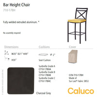 San Michelle Bar Height Chair by Caluco - LoftModern - 2