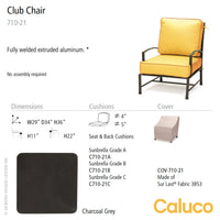 San Michelle Club Chair by Caluco - set of 2 | Caluco | LoftModern