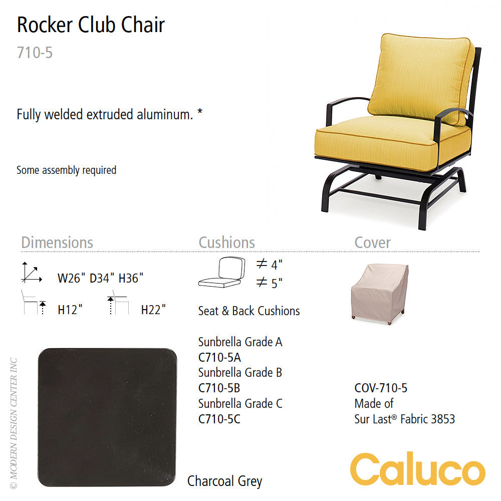San Michelle Rocker Club Chair by Caluco - set of 2 | Caluco | LoftModern