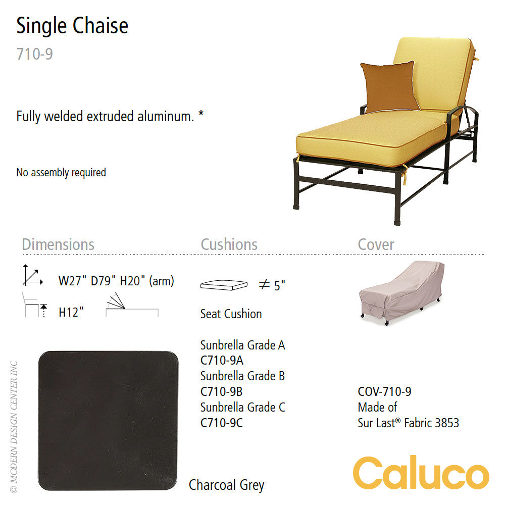 San Michelle Single Chaise by Caluco - LoftModern - 2