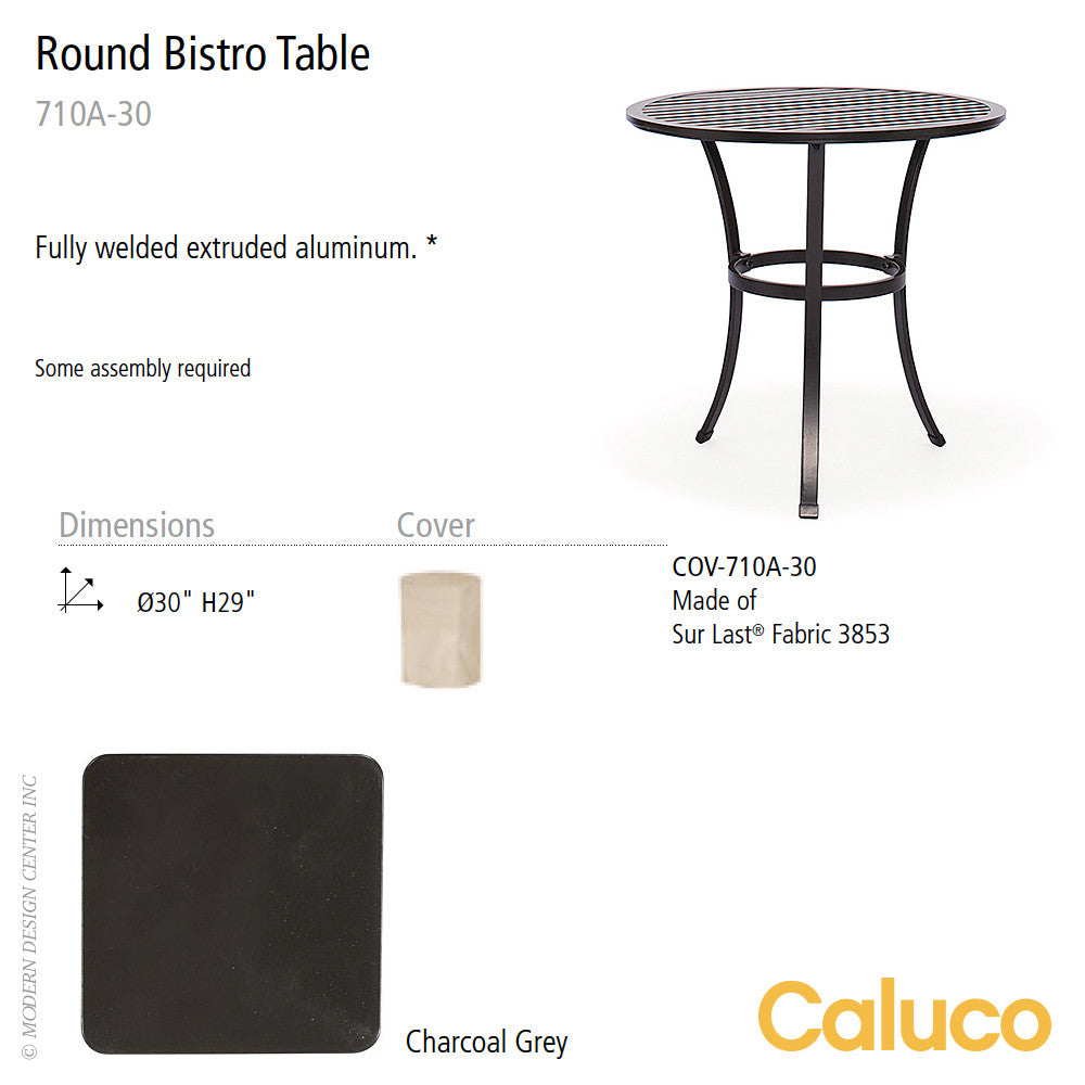 San Michelle Round Bistro Table by Caluco | Caluco | LoftModern