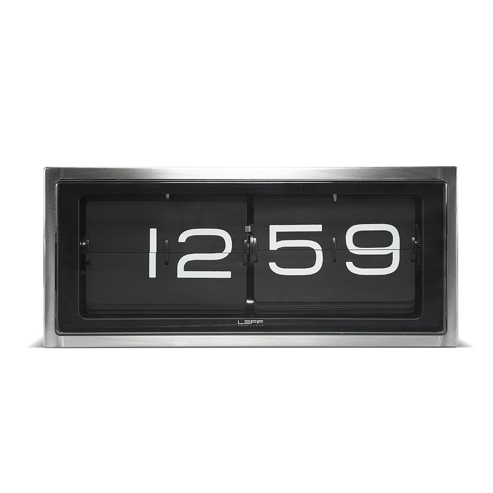 Leff Brick Desk/Wall Clock - Steel