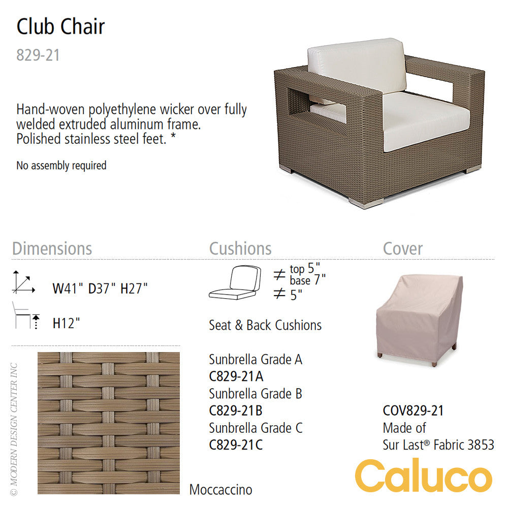 10 Tierra Club Chair by Caluco | Caluco | LoftModern