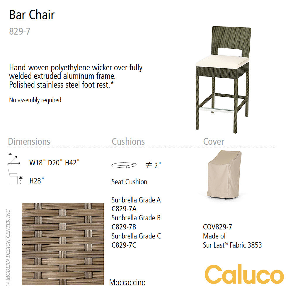 10 Tierra Bar Chair by Caluco | Caluco | LoftModern