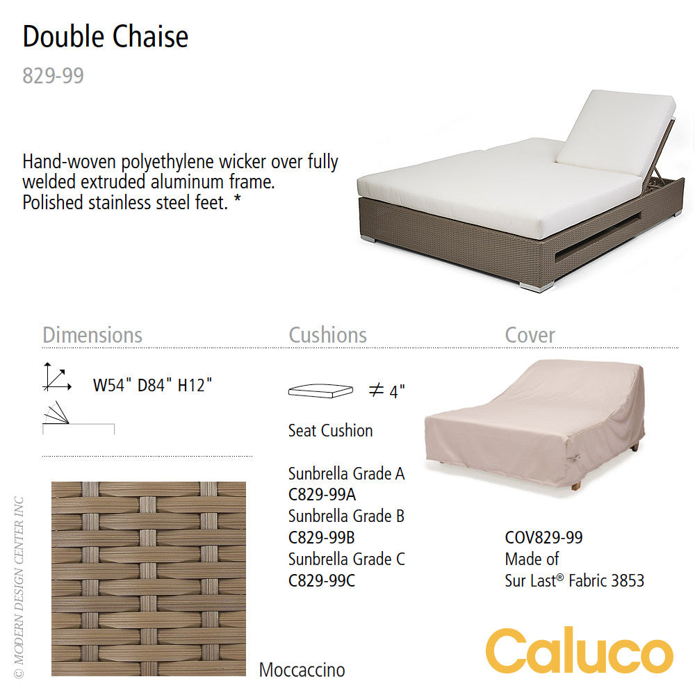 10 Tierra Double Chaise by Caluco | Caluco | LoftModern