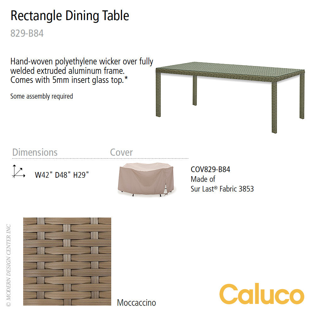 10 Tierra Rectangle Dining Table by Caluco | Caluco | LoftModern