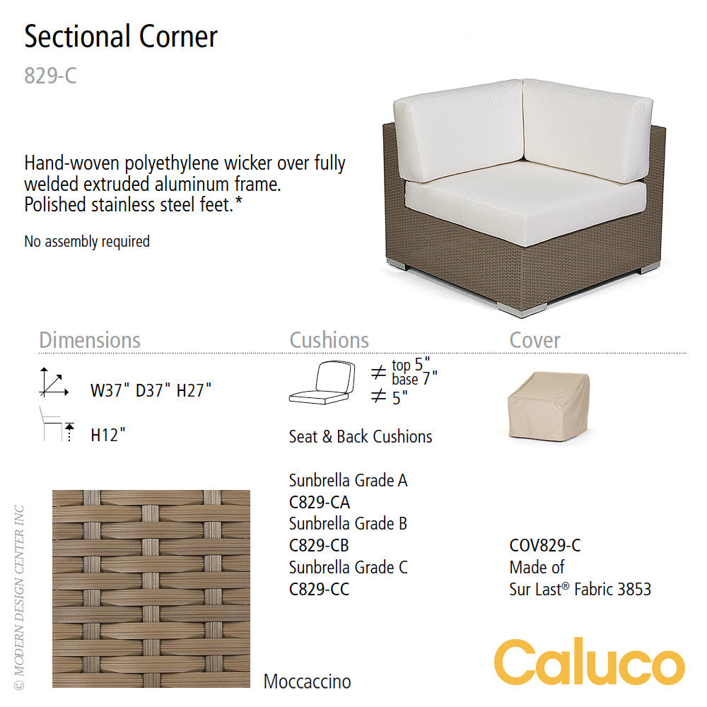 10 Tierra Sectional Corner by Caluco - LoftModern - 2