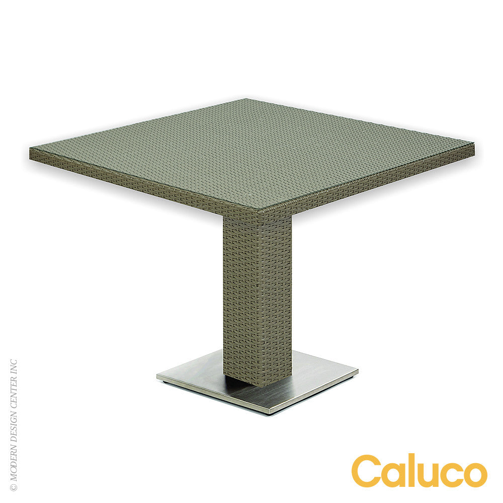 10 Tierra Square Pedestal Dining Table by Caluco - LoftModern - 1