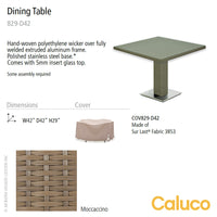 10 Tierra Square Pedestal Dining Table by Caluco | Caluco | LoftModern