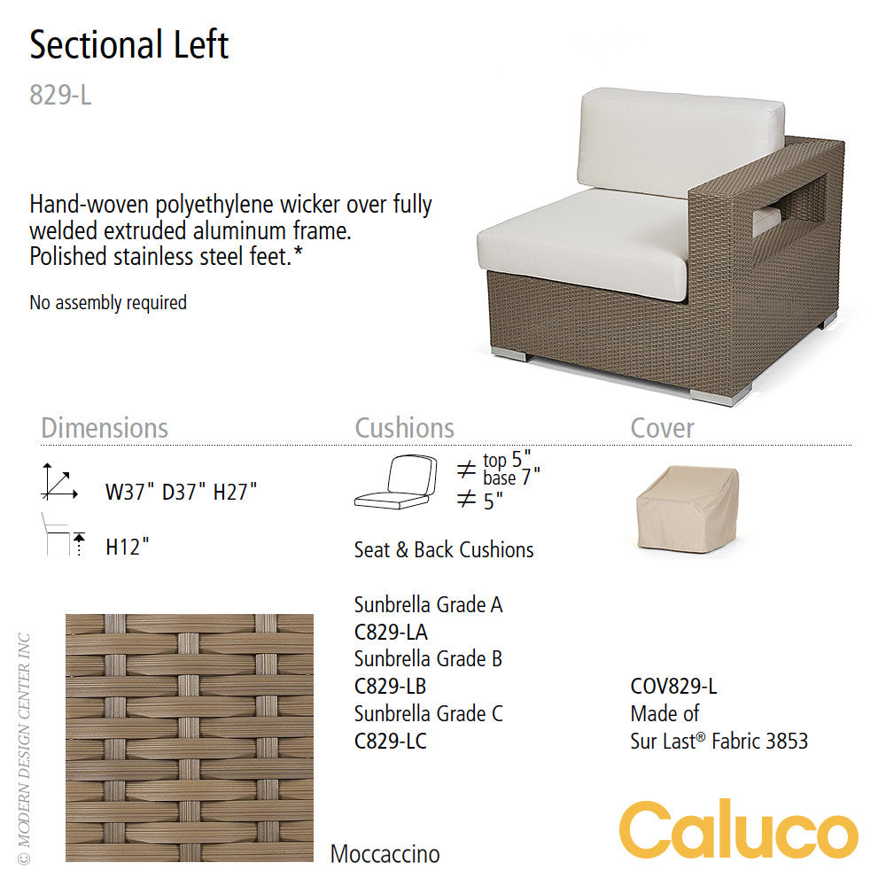 10 Tierra Sectional Left by Caluco - set of 2 | Caluco | LoftModern