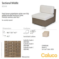 10 Tierra Sectional Middle by Caluco - set of 2 | Caluco | LoftModern