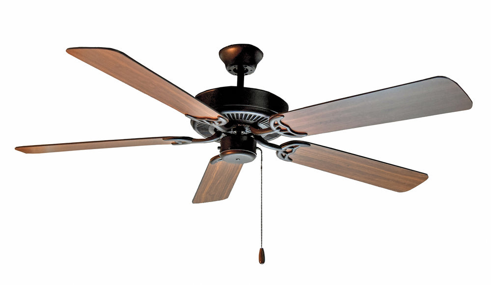 "Maxim Lighting Basic-Max 52"" Ceiling Fan Walnut/Pecan Blades 89905OIWP"