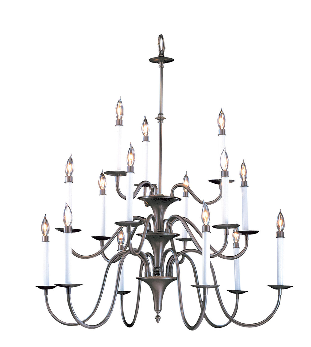 15-Light Satin Pewter Jamestown Foyer Chandelier F-9235 SP by Framburg