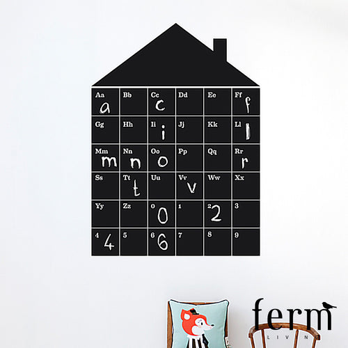 Ferm Living ABC House Wall Sticker | Ferm Living | LoftModern