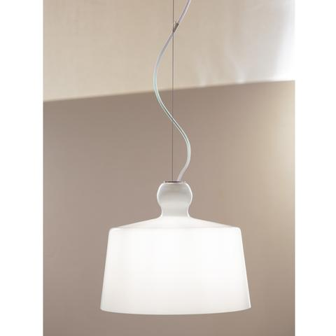 Acquatinta White Pendant Light XL of Produzione Privata