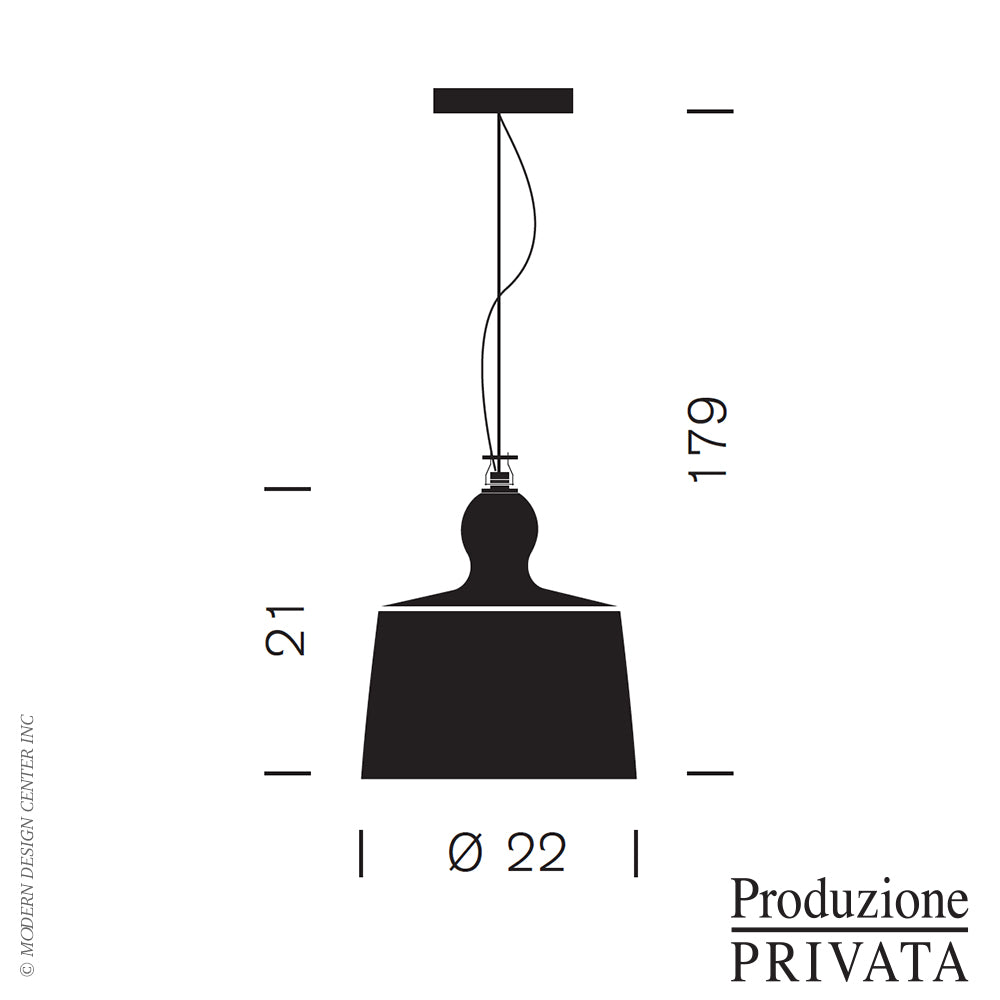 Acquatinta Clear Glass Pendant Light of Produzione Privata