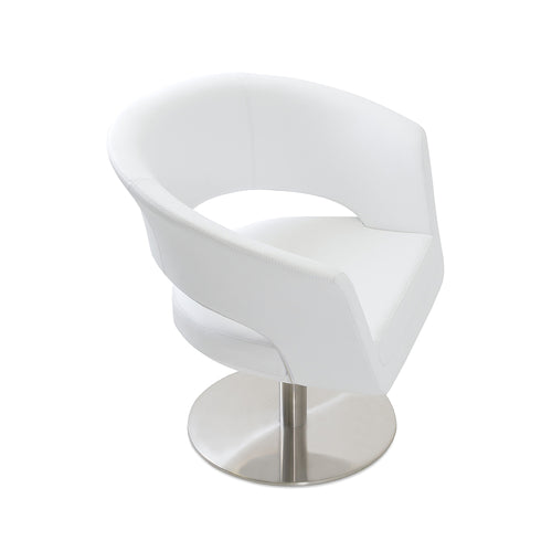 Ada Swivel Round Arm Chair by SohoConcept