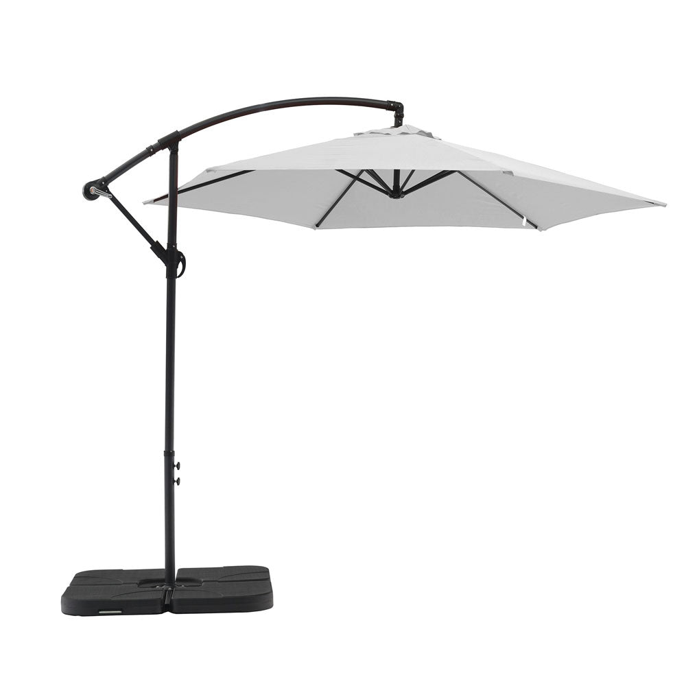 Aiden Outdoor Umbrella White by Whiteline