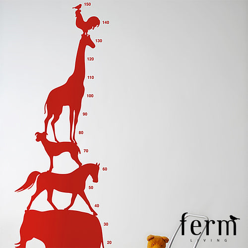 Ferm Living Animal Tower Kids Wall Sticker | Ferm Living | LoftModern