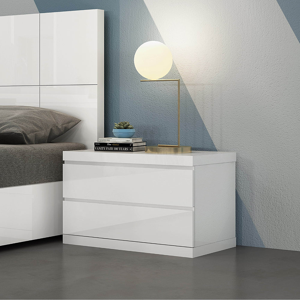 Anna Night Stand Large White by Whiteline