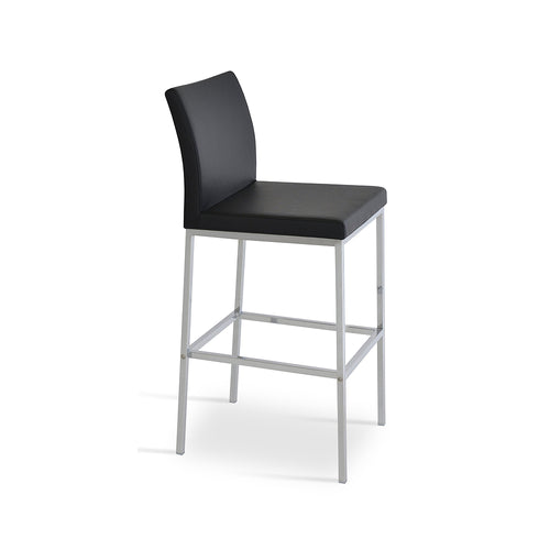 Aria Metal Counter Stool Leather by SohoConcept