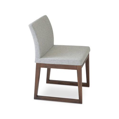 Aria Sled Wood Chair Fabric by SohoConcept