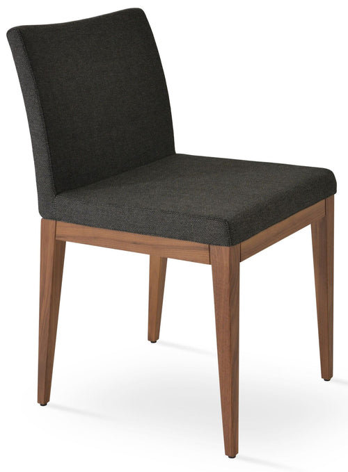 Aria Wood Dining Chair Fabric by SohoConcept