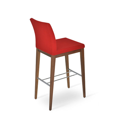 Aria Wood Bar Stool Fabric by SohoConcept