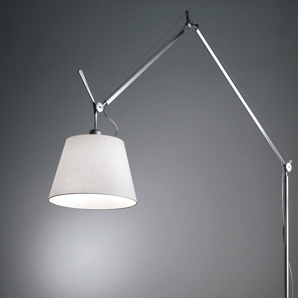 Tolomeo Mega Floor with Parchment Shade by Artemide