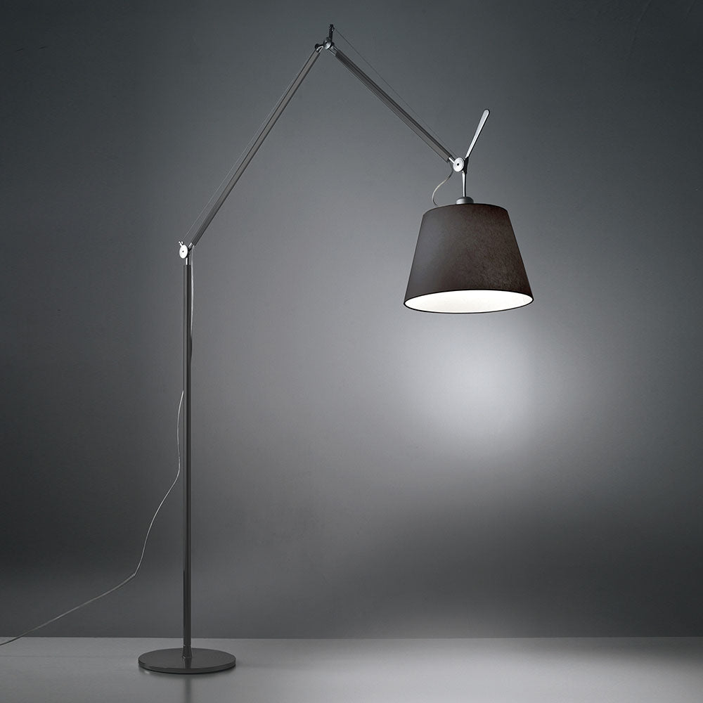 Tolomeo Mega Floor with Black Shade by Artemide