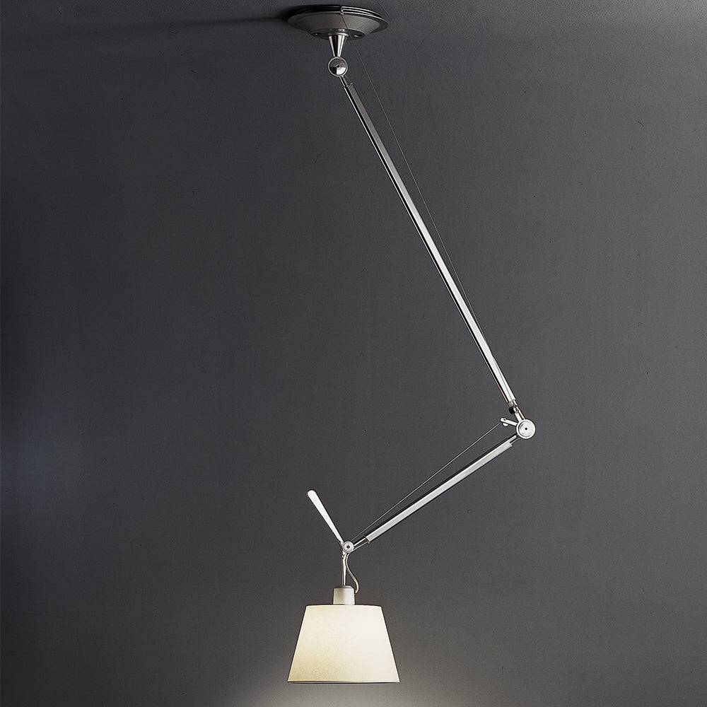 Tolomeo Off-Center Parchment Shade Suspension by Artemide