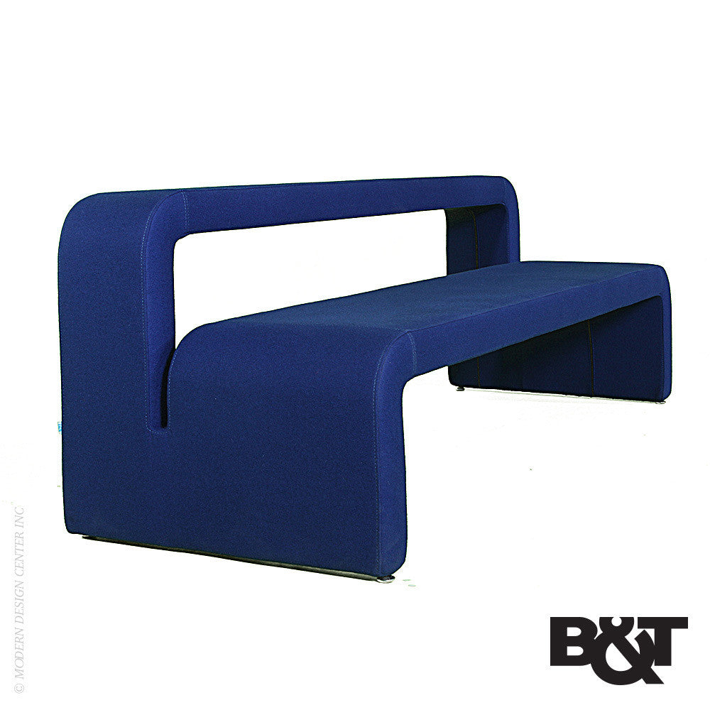 B&T Moby Bench Large with Backrest | B&T | LoftModern