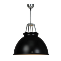 Titan Size 3 Black with White Interior Pendant Light of Original BTC