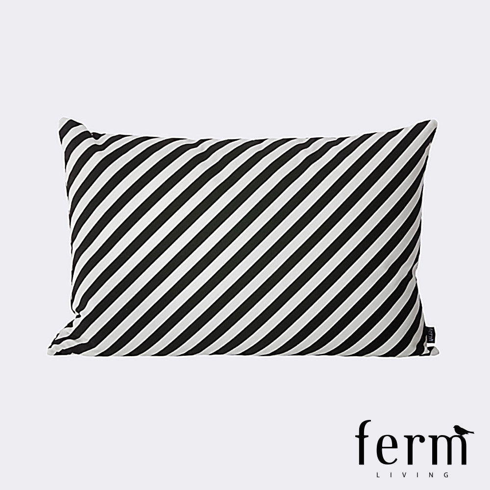 Ferm Living Black Stripe Cushion - LoftModern