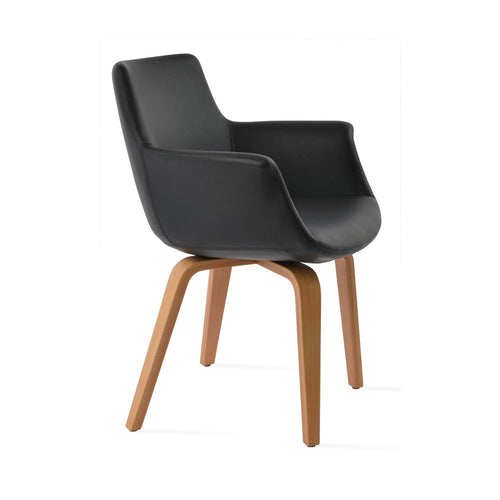 Bottega Plywood Arm Chair Leather  by SohoConcept