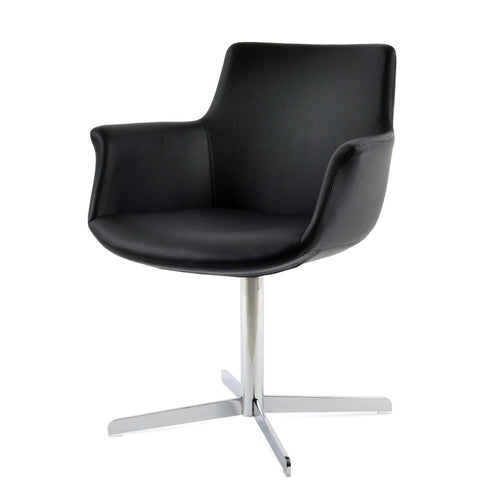 Bottega 4 Star Swivel Arm Chair Leather by SohoConcept