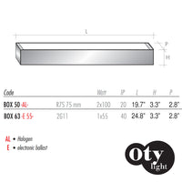 Oty Light Box Wall or Ceiling Lamp - LoftModern - 4