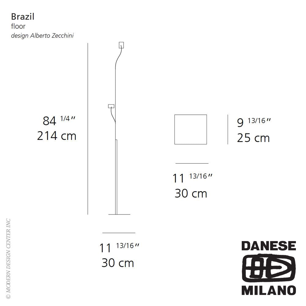 Brazil Floor Lamp by Danese Milano