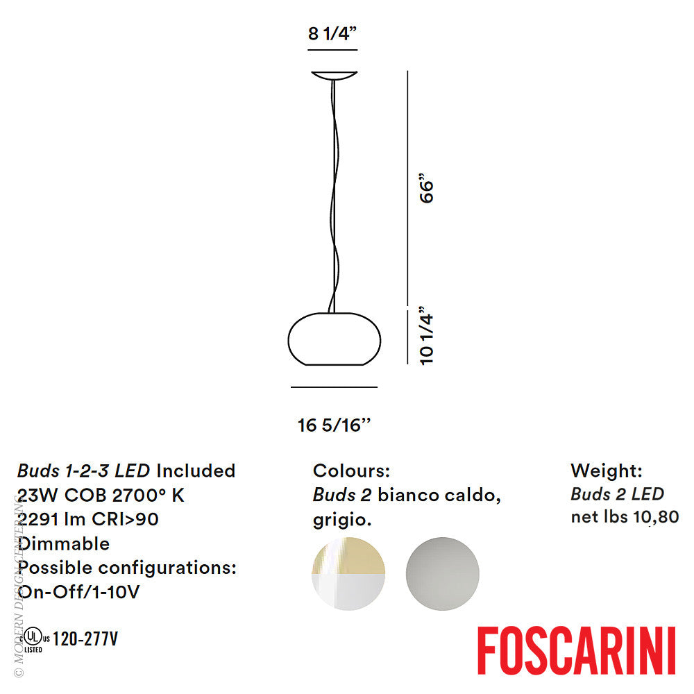 Buds 2 LED Suspension - Foscarini