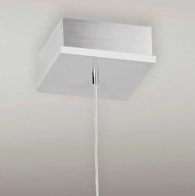 extended-profile square canopy (matches fixture's metal finish)