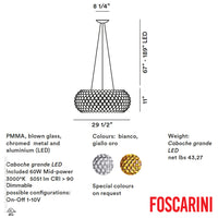 Caboche Grande LED Suspension - Foscarini
