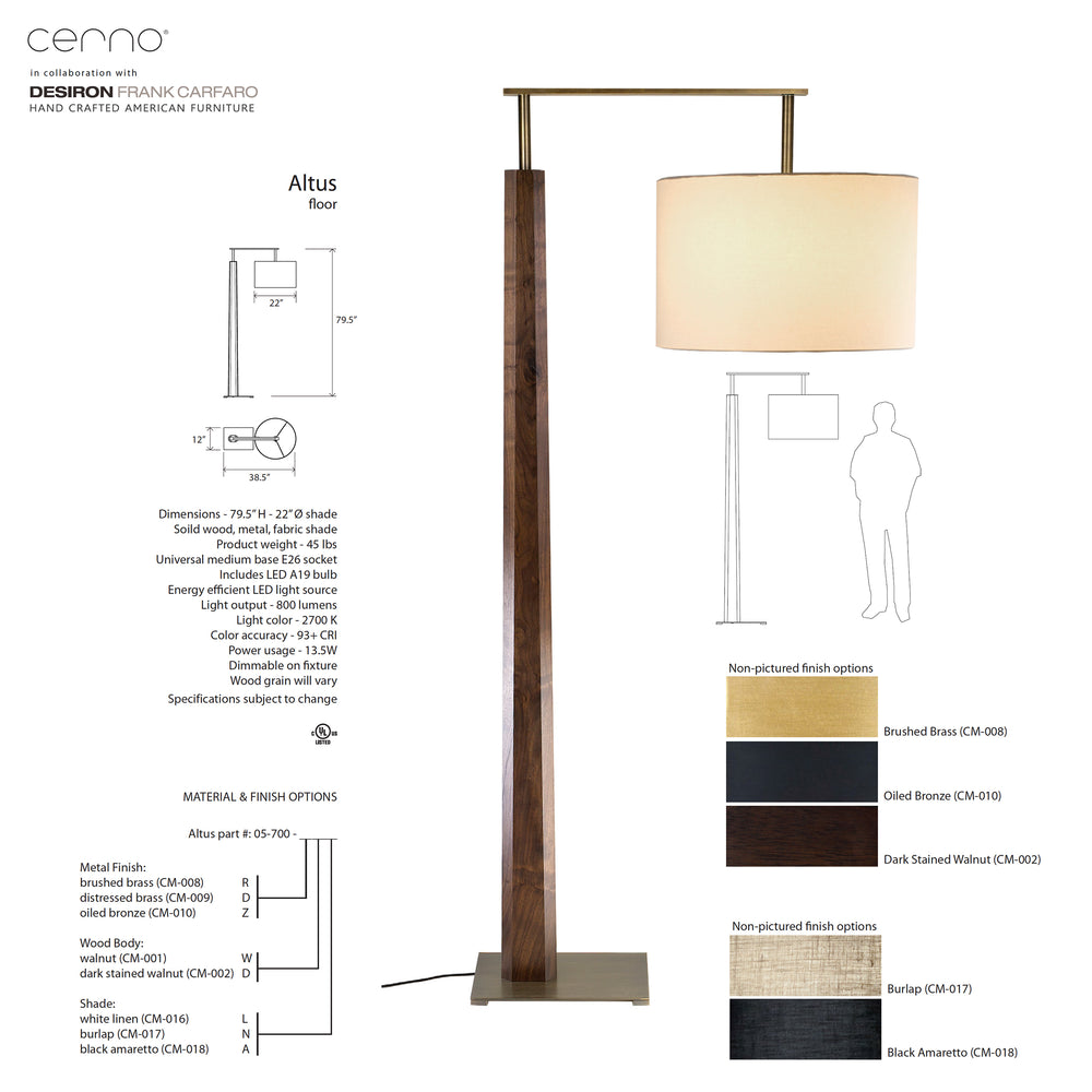 Cerno Altus LED Floor Lamp