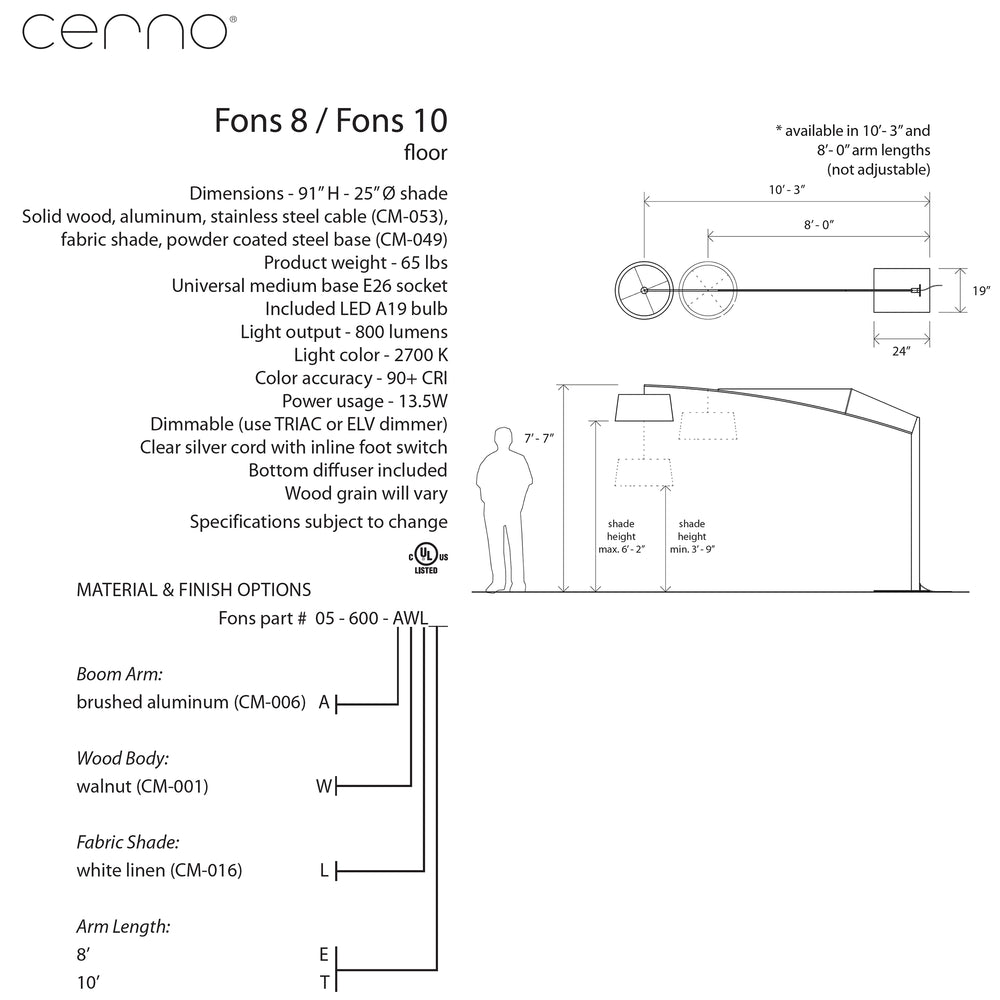 Cerno Fons LED Floor Lamp