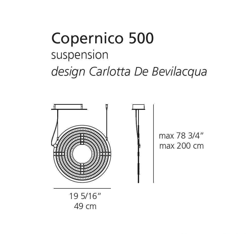 Artemide Copernico 500 Suspension Lamp | Artemide | LoftModern