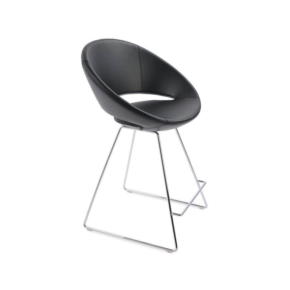 Crescent Wire Bar Stool Leather by SohoConcept