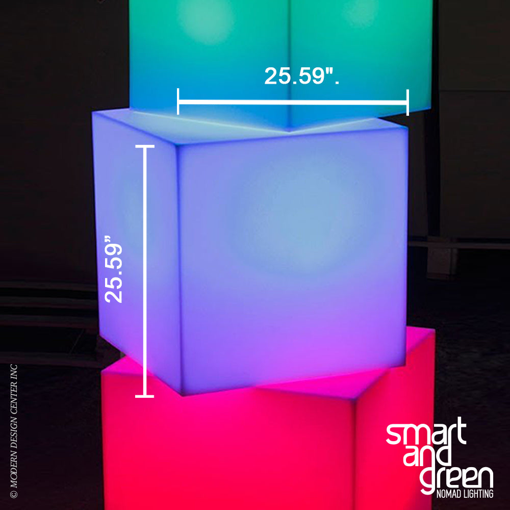 Cube Sharp LED Cordless Lamp by Smart & Green