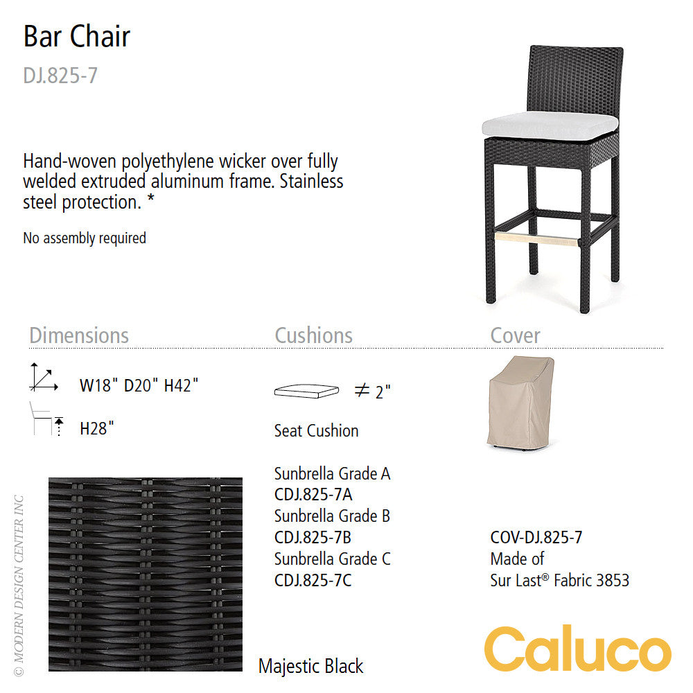 Dijon Bar Chair by Caluco - set of 2 | Caluco | LoftModern