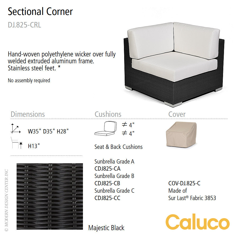 Dijon Sectional Corner by Caluco - set of 2 | Caluco | LoftModern