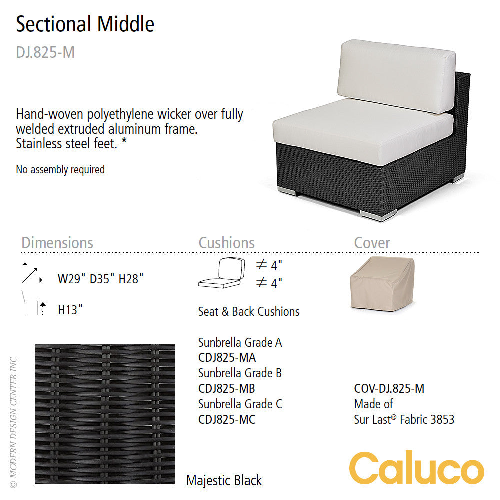 Dijon Sectional Middle by Caluco - LoftModern - 2